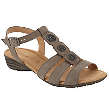 Buy Gabor Eartha Nubuck Strappy Wedge Sandals Online at johnlewis.com