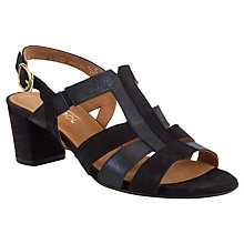 Buy Gabor Energy Suede Contrast Strappy Sandals, Navy Online at johnlewis.com