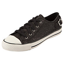 Buy Ash Virgo Glitter Trainers, Black Online at johnlewis.com