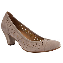 Buy Gabor Arberia Nubuck Perforated Court Shoes Online at johnlewis.com