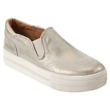 Buy Ash Jungle Leather Slip-On Trainers, Gold Online at johnlewis.com