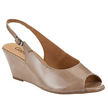 Buy Gabor Betti Peep Toe Leather Court Shoes Online at johnlewis.com