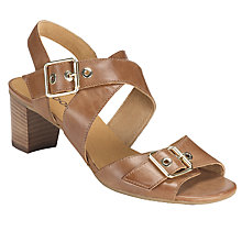 Buy Gabor Britney Leather Cross Strap Buckle Sandals, Bark Online at johnlewis.com