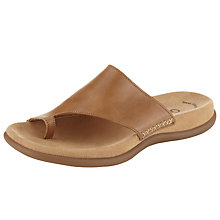Buy Gabor Lanzarote Leather Loop Toe Slip On Online at johnlewis.com