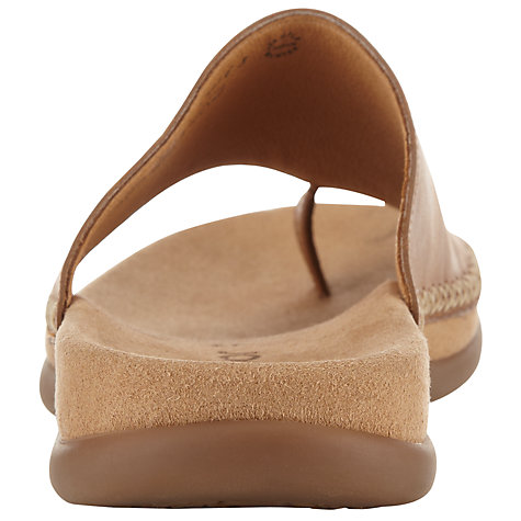 Buy Gabor Lanzarote Leather Loop Toe Slip Ons Online at johnlewis.com