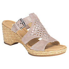 Buy Gabor Sandy Suede Cut-Out Sandals Online at johnlewis.com