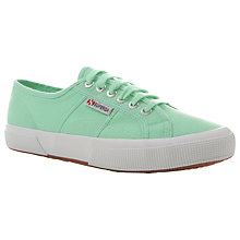 Buy Superga Women's 2750 Cotu Classic Trainer Plimsolls, Pastel Green Online at johnlewis.com