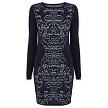 Buy Warehouse Jacquard Pattern Dress Online at johnlewis.com