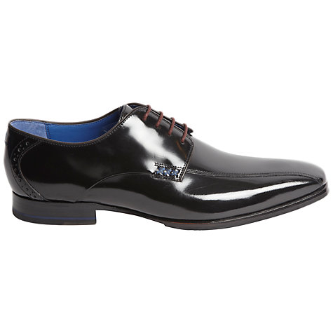 Buy Oliver Sweeney Winsley Tramline Hi-Shine Derby Shoes, Black Online at johnlewis.com