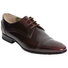 Buy Oliver Sweeney Wilkes Leather Gibson Shoes, Burgundy Online at johnlewis.com