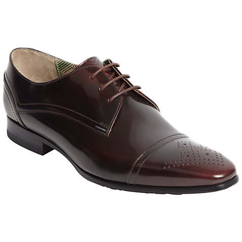 Buy Oliver Sweeney Regent Leather Gibson Shoes, Burgundy Online at johnlewis.com