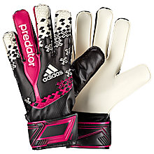 Buy Adidas Junior Predator Fingersave Goalkeeper Gloves, Black/Pink/White Online at johnlewis.com
