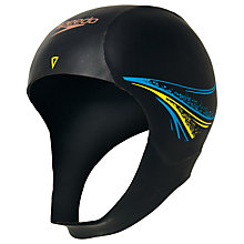 Buy Speedo Unisex Tri Comp Elite Swim Cap, Black/Blue Online at johnlewis.com