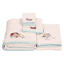 Buy little home at John Lewis Little Fairy Embroidered Towels Online at johnlewis.com