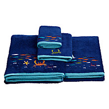 Buy little home at John Lewis Waves & Whales School of Fish Towels Online at johnlewis.com
