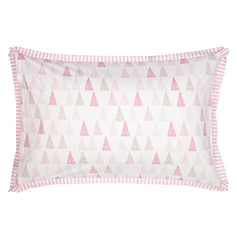 Buy little home at John Lewis Triangles & Trees Triangles and Ticking Duvet Cover and Pillowcase Set Online at johnlewis.com