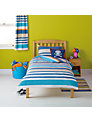 little home at John Lewis Waves & Whales Striped Duvet Cover and Pillowcase Set