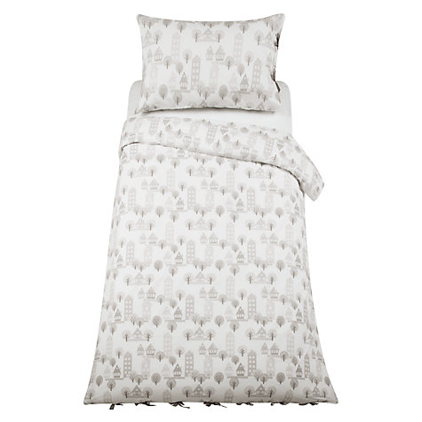 Buy little home at John Lewis Triangles & Trees Tree Houses Duvet Cover and Pillowcase Set Online at johnlewis.com