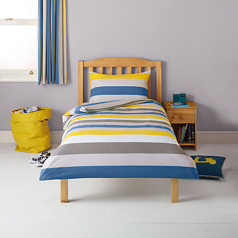 Buy little home at John Lewis Here, There & Everywhere Striped Duvet Cover and Pillowcase Set Online at johnlewis.com