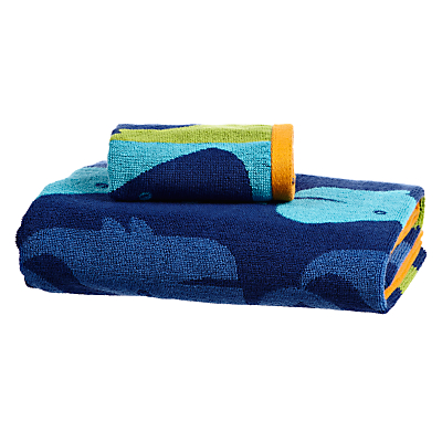 little home at John Lewis Waves & Whales Repeating Whale Towels
