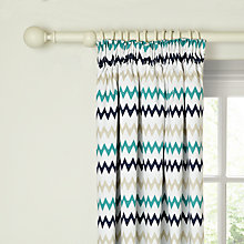 Buy little home at John Lewis Robotica Zig Zag Pencil Pleat Blackout Lined Curtains Online at johnlewis.com