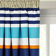 Buy little home at John Lewis Waves & Whales Striped Pencil Pleat Blackout Lined Curtains Online at johnlewis.com