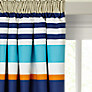little home at John Lewis Waves & Whales Striped Pencil Pleat Blackout Lined Curtains