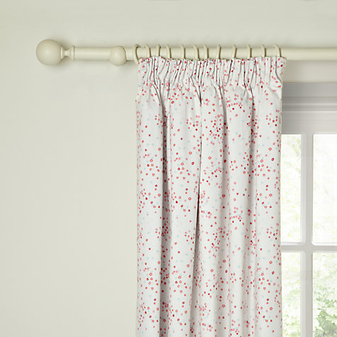Buy little home at John Lewis Little Fairy Flowers Pencil Pleat Blackout Lined Curtains Online at johnlewis.com