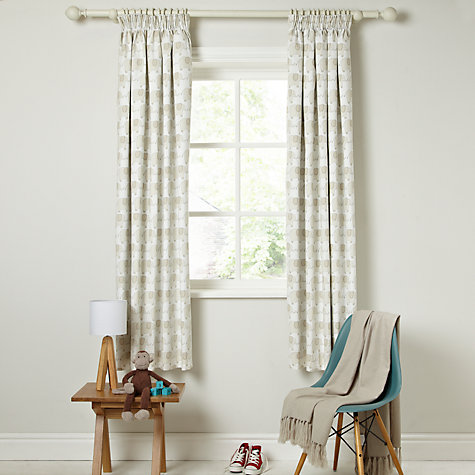 Buy little home at John Lewis Elephant Pencil Pleat Blackout Lined Curtains Online at johnlewis.com