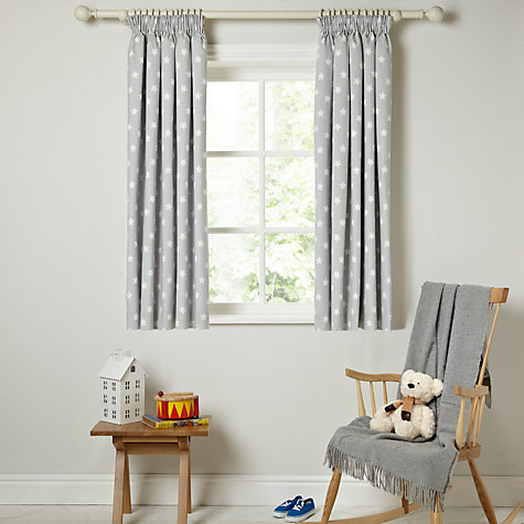 Buy Little Home At John Lewis Star Pencil Pleat Blackout