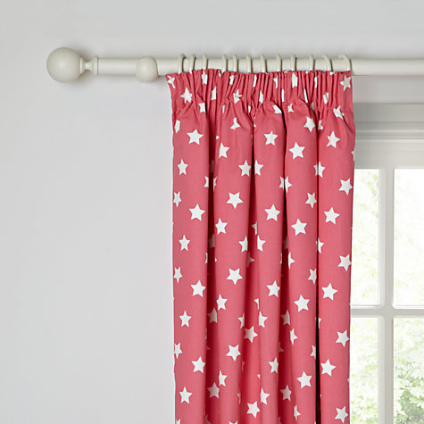 Buy little home at John Lewis Glow In The Dark Pencil Pleat Blackout Lined Curtains Online at johnlewis.com