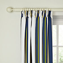 Buy little home at John Lewis Here, There & Everywhere Finlay Stripe Pencil Pleat Blackout Lined Curtains Online at johnlewis.com