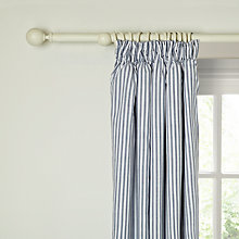 Buy little home at John Lewis Ticking Stripe Pencil Pleat Blackout Lined Curtains Online at johnlewis.com