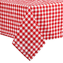 Buy John Lewis Check Tablecloth, Red Online at johnlewis.com