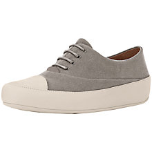 Buy FitFlop Dué Oxford Canvas Trainers, Beige Online at johnlewis.com