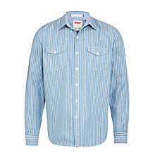 Buy Levi's Truckee Western Striped Shirt, Blue Online at johnlewis.com