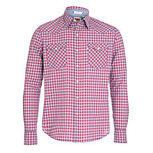Buy Levi's Barstow Western Check Long Sleeve Shirt, Mineral Red Online at johnlewis.com