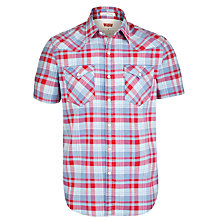 Buy Levi's Barstow Western Check Short Sleeve Shirt, Ski Patrol Online at johnlewis.com