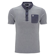 Buy Fred Perry Tonic Trim Short Sleeve Polo Shirt, Dark Carbon Online at johnlewis.com