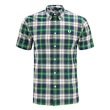 Buy Fred Perry Spring Tartan Shirt, Prince Blue/Tropical Red Online at johnlewis.com