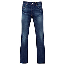 Buy Levi's 501 Original Straight Fit Tapered Jeans, Indigo Station Online at johnlewis.com