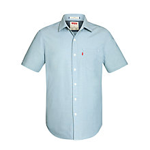 Buy Levi's Classic Short Sleeve Chambray Shirt, Indigo Crinkled Chambray Online at johnlewis.com