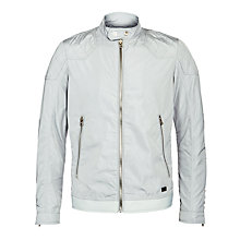 Buy Diesel Hollis Bomber Jacket, Grey Online at johnlewis.com