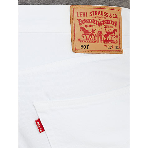 Buy Levi's 501 Straight Leg Tapered Jeans, White Light Online at johnlewis.com