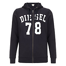 Buy Diesel Gunter Jersey Hooded Sweatshirt, Navy Online at johnlewis.com
