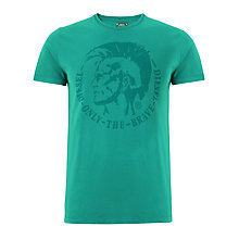 Buy Diesel Achel Cotton Jersey Mohawk T-Shirt Online at johnlewis.com