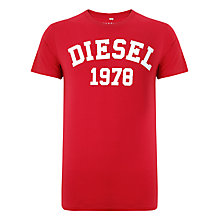 Buy Diesel T-EHM 1978 Logo Short Sleeve T-Shirt Online at johnlewis.com