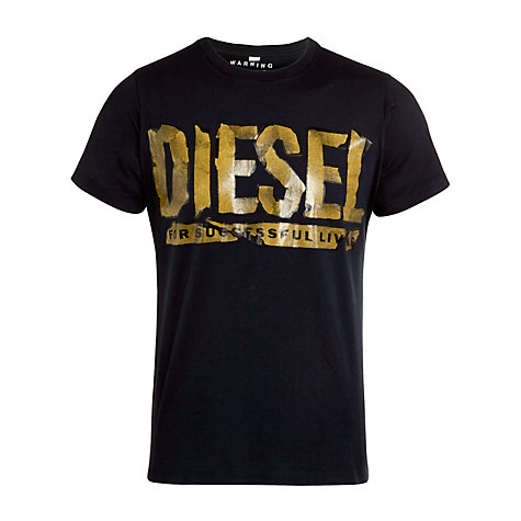 Buy Diesel Graphic Logo T-Shirt Online at johnlewis.com