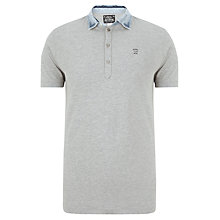 Buy Diesel Brillo Denim Collar Polo Shirt, Grey Online at johnlewis.com