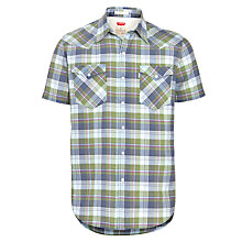 Buy Levi's Barstow Short Sleeve Western Shirt, Vineyard Green Online at johnlewis.com